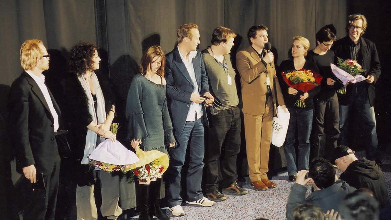 2002 - Premiere of HALBE MIETE (Half the Rent) – director Marc Ottiker with his team, actors and producer Wim Wenders