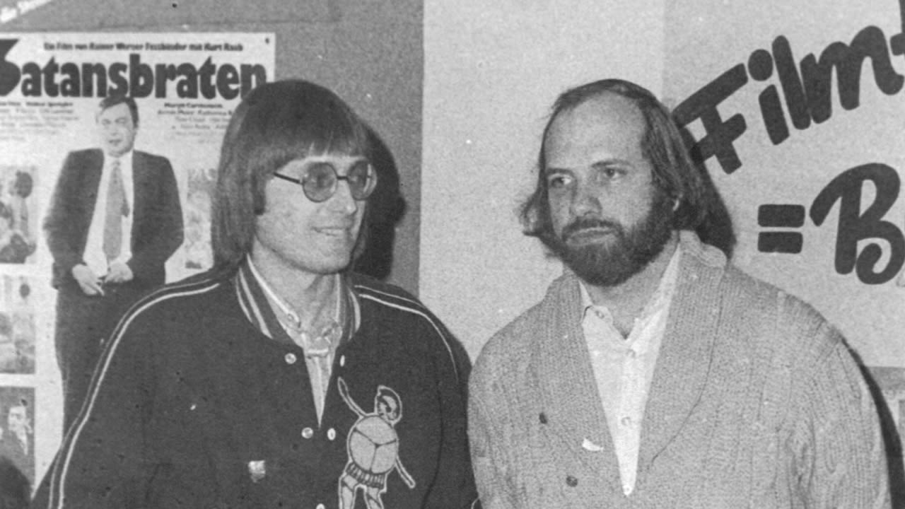 1976 - Brian de Palma and festival director Heinz Badewitz