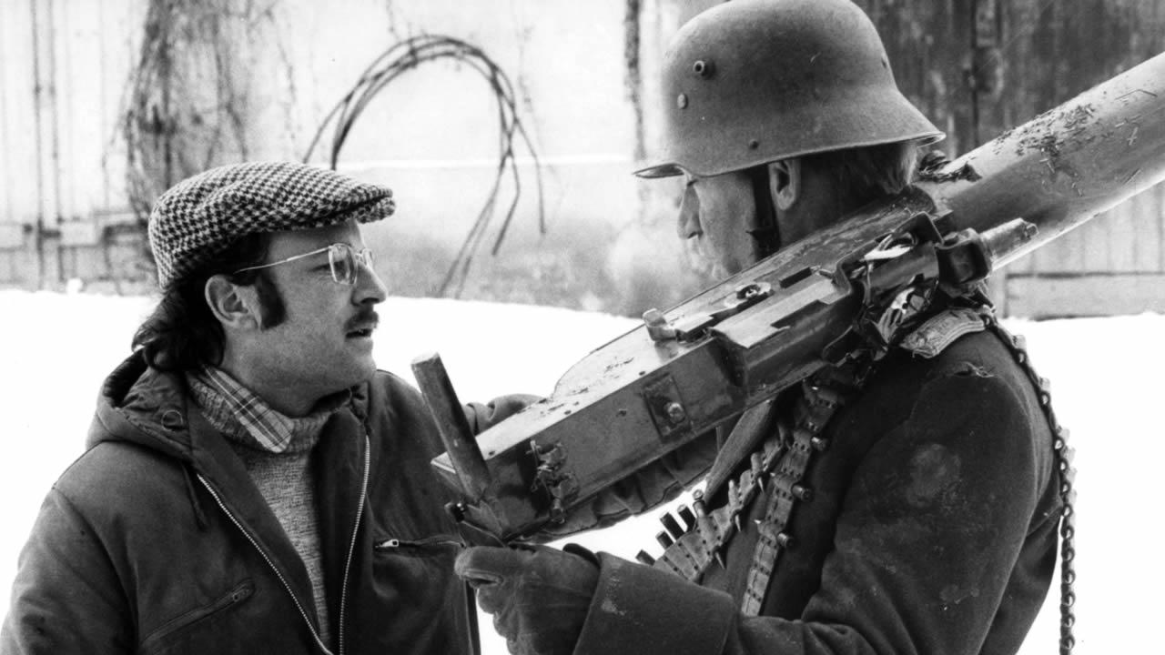 1976 - Volker Schlöndorff am Set von FANGSCHUSS mit dem Hauptdarsteller Matthias Habich.
