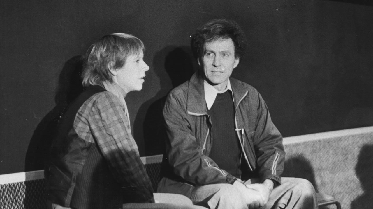 1978 - Festival hostess Doris Dörrie at the audience discussion with Monte Hellmann (THE SHOOTING), the retrospective's director