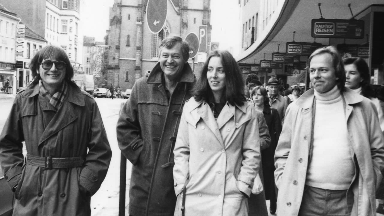 1981 - Julie and Roger Corman strolling through Hof's Altstadt with Heinz Badewitz.
