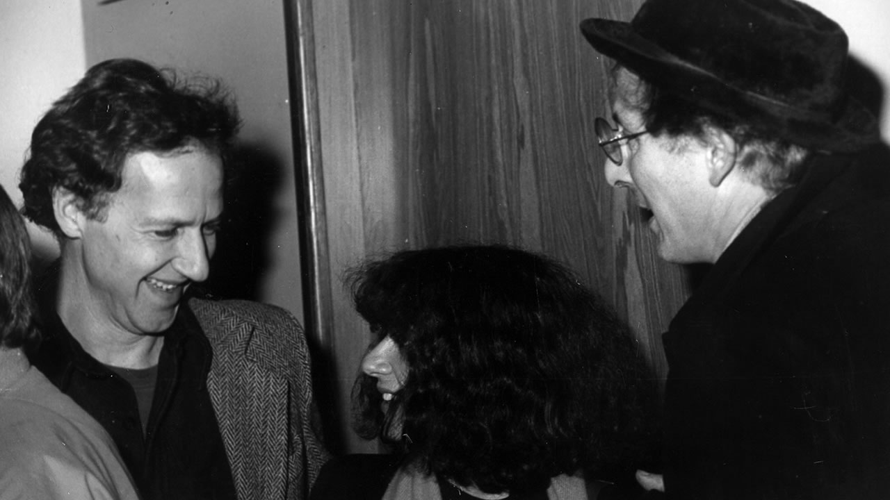 1982 - Werner Herzog and Herbert Achternbusch flirting with a female visitor.