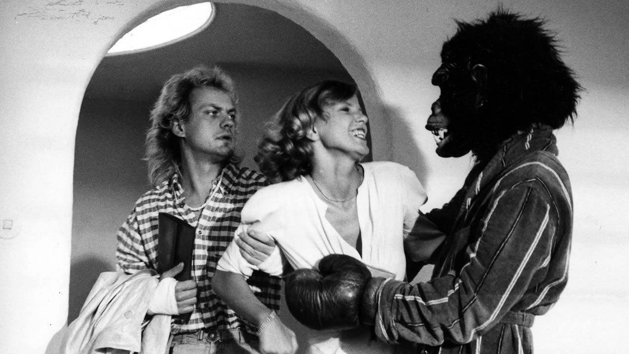 1985 - Doris Dörries Erfolgsfilm MÄNNER wird nach der Premiere in Hof mit minutenlangen Applaus gefeiert.