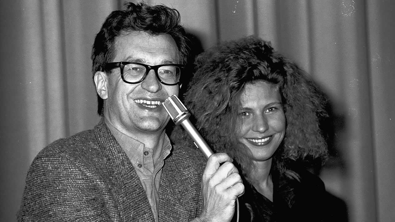 1987 - Wim Wenders zeigt DER HIMMEL ÜBER BERLIN mit Solveig Dommartin