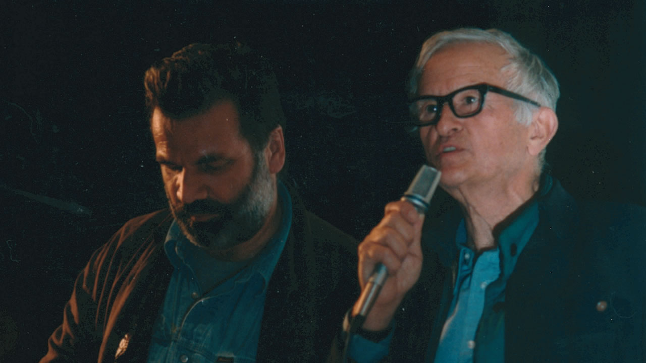 1995 – The American documentary filmmaker Albert Maysles with Laurens Straub at the Hof Film Festival