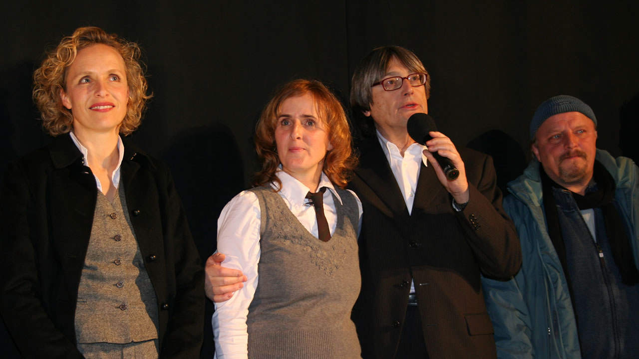 2007 – Basking in the success of MONDKALB (Mooncalf): Juliane Köhler, Sylke Enders and Axel Prahl with festival director Heinz Badewitz.