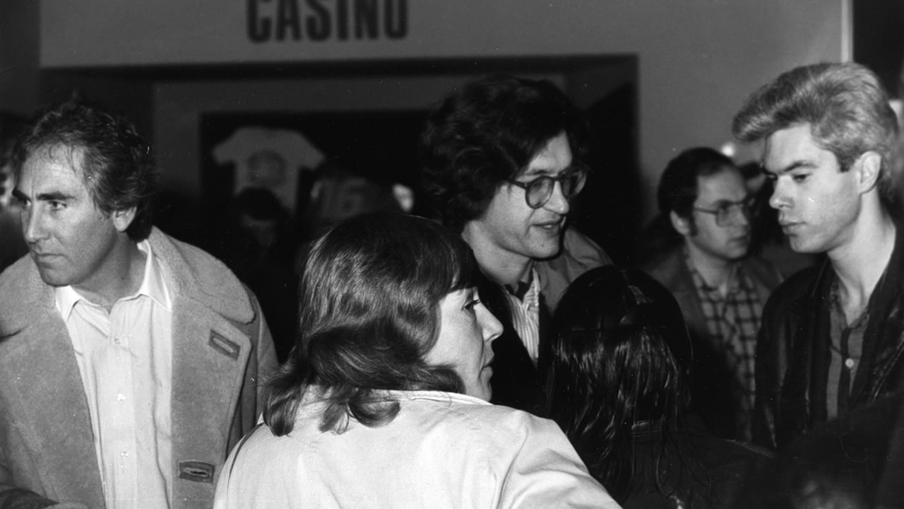1982 - Wim Wenders and Jim Jarmusch in the cinema foyer