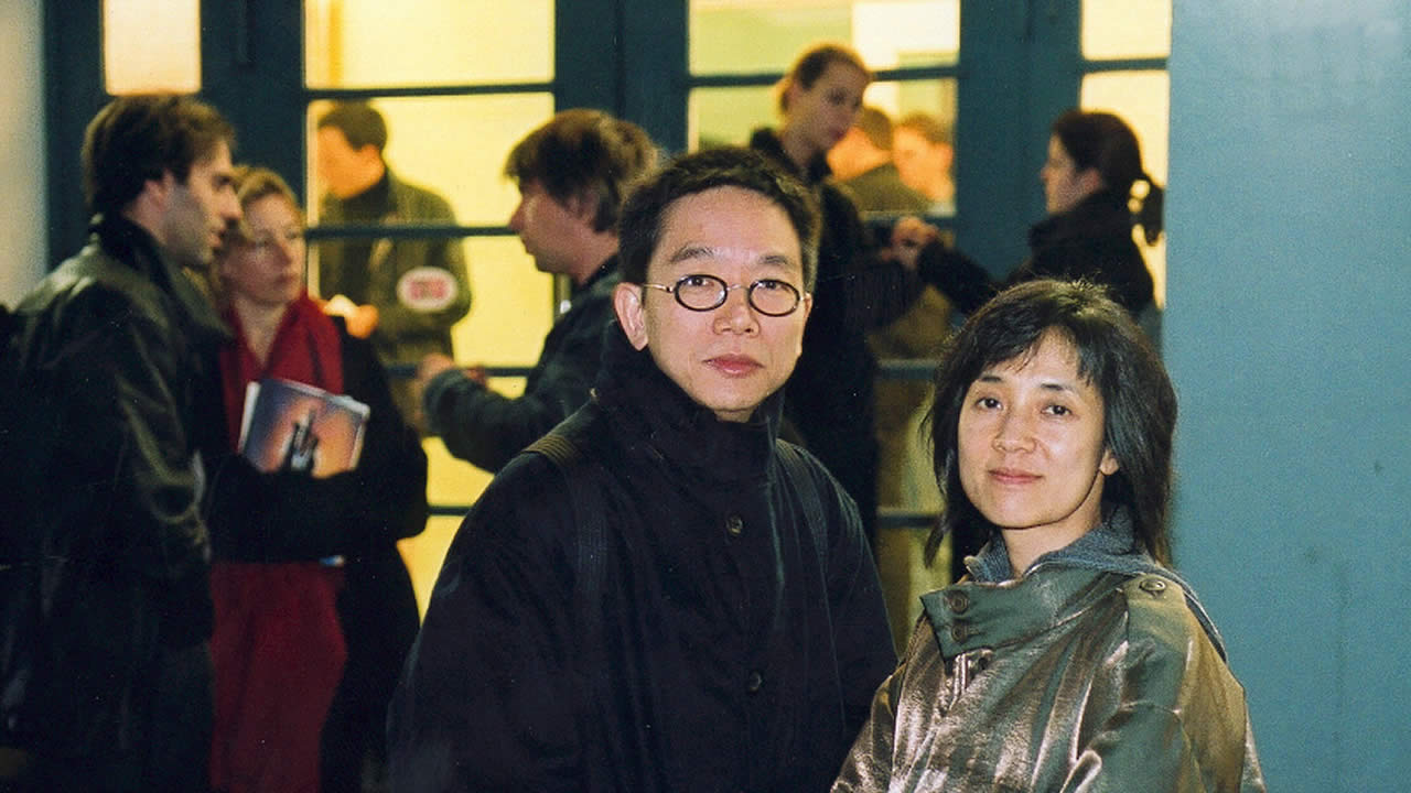 2000 - Eddie Fong and Clara Law outside the Scala Filmtheater