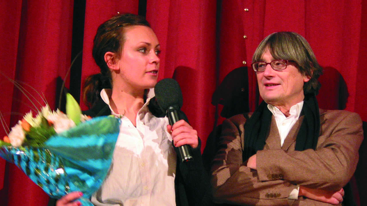 2004 - Heinz Badewitz with Kate Elliott, leading actress of FRACTURE