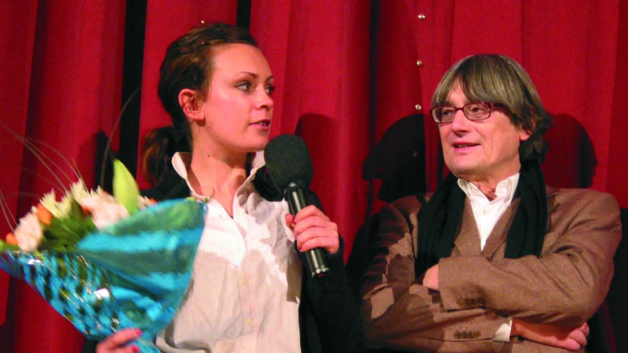 2004 - Heinz Badewitz mit Kate Elliott, Hauptdarstellerin in FRACTURE