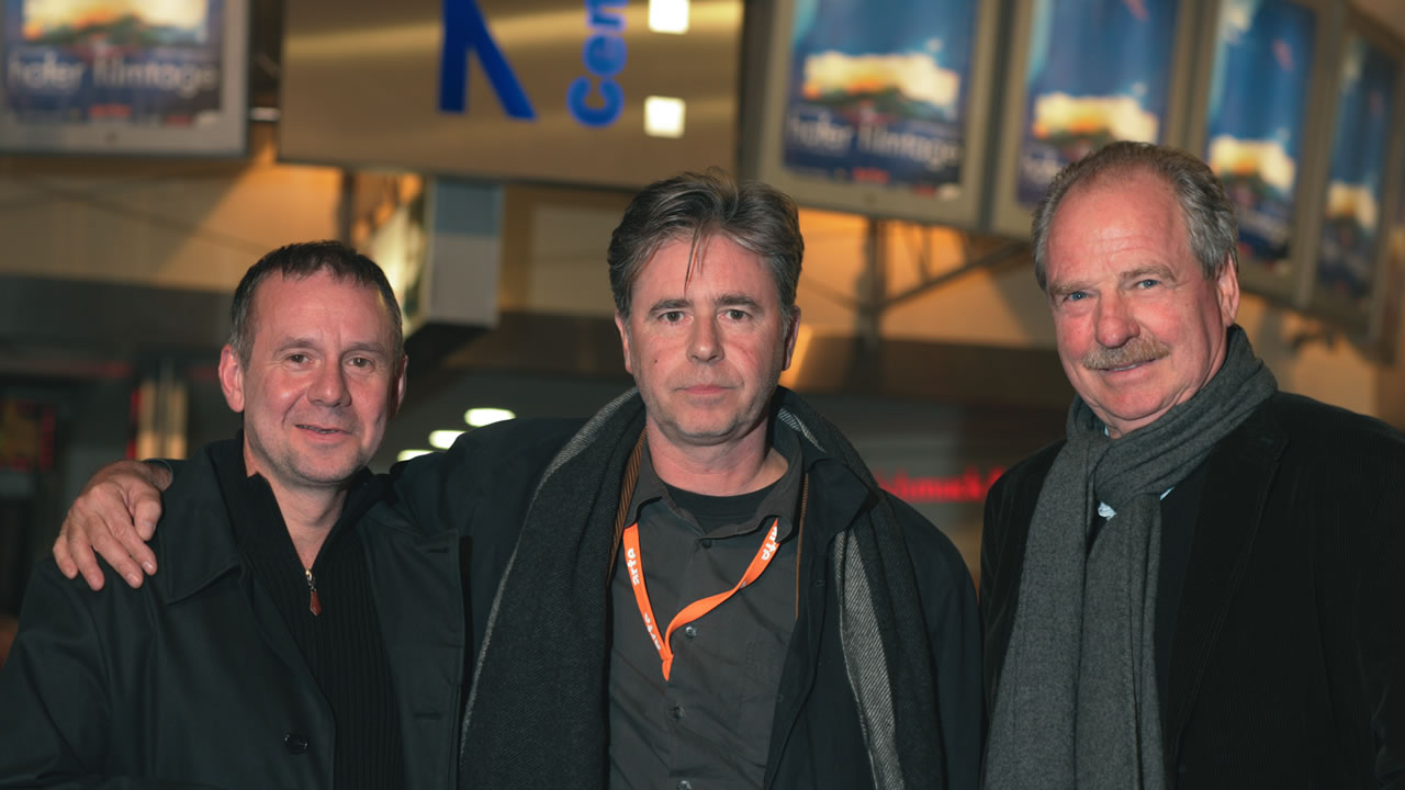 2005 - Joachim Król, director Urs Egger and actor Friedrich von Thun after the premiere of DER KEILER (The Boar)
