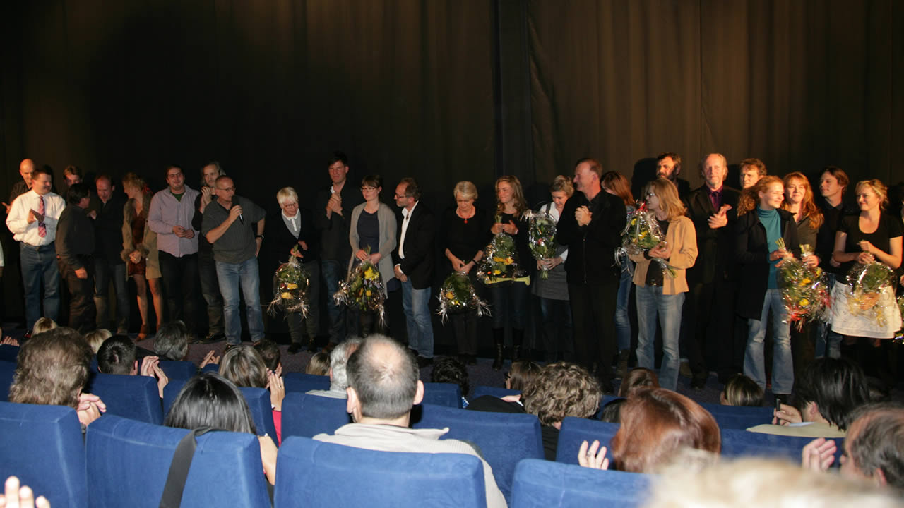 2011 – The team of DAS UNSICHTBARE MÄDCHEN (The Invisible Girl) with director Dominik Graf