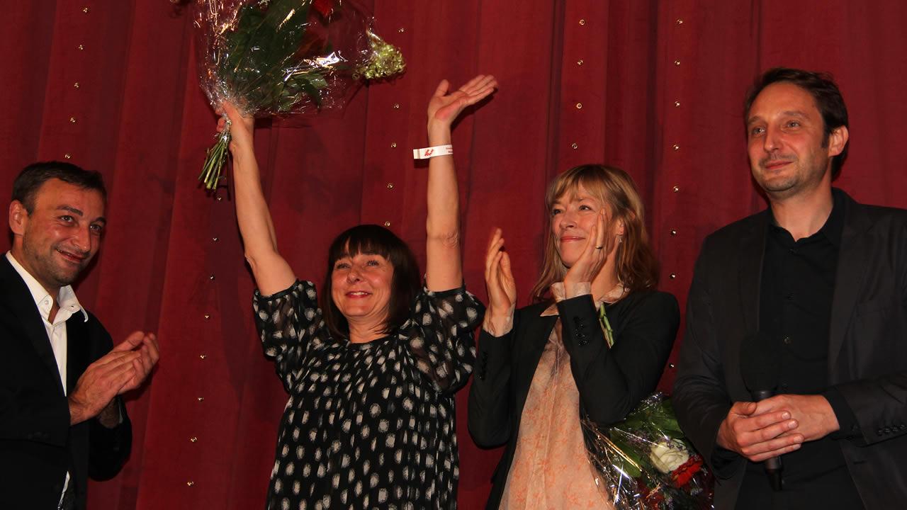 2013 - DIE FRAU DIE SICH TRAUT mit Steffi Kühnert und Jenny Schily: Marc Rensing (rechts) eröffnet die Hofer Filmtage.