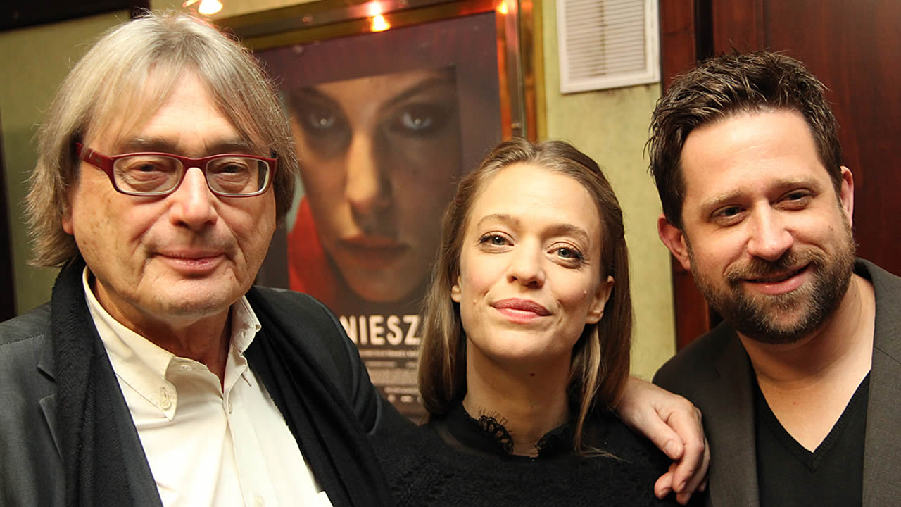 2014 - Heike Makatsch with Mark Monheim, the director of ABOUT A GIRL, and festival director Heinz Badewitz
