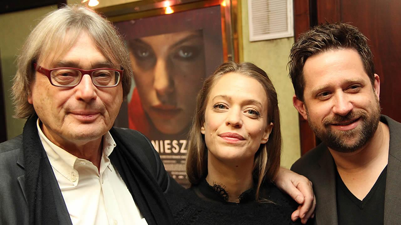 2014 - Heike Makatsch mit Mark Monheim, dem Regisseur von ABOUT A GIRL, und Festivalleiter Heinz Badewitz