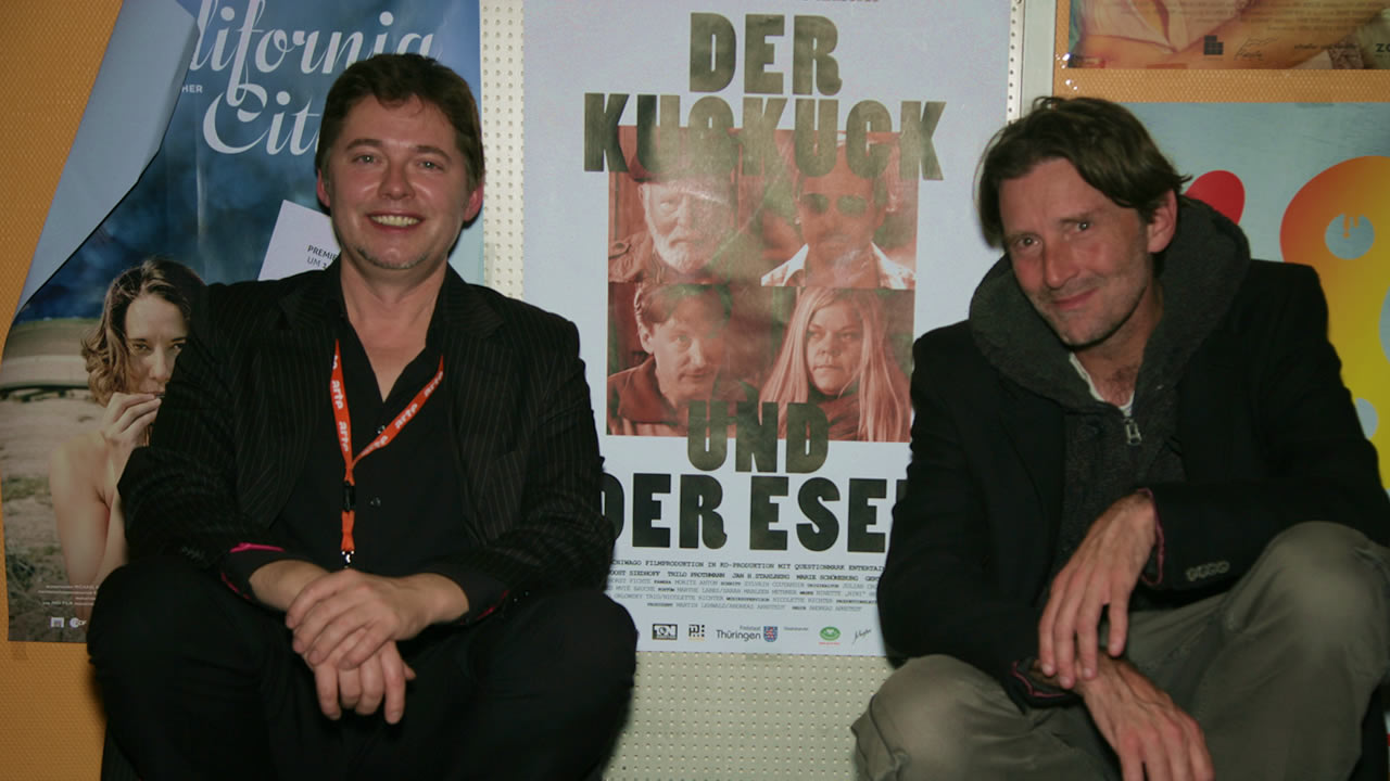 2014 – Andreas Arnstedt (left) receives the German Cinema New Talent Award for DER KUCKUCK UND DER ESEL (The cuckoo and the donkey).