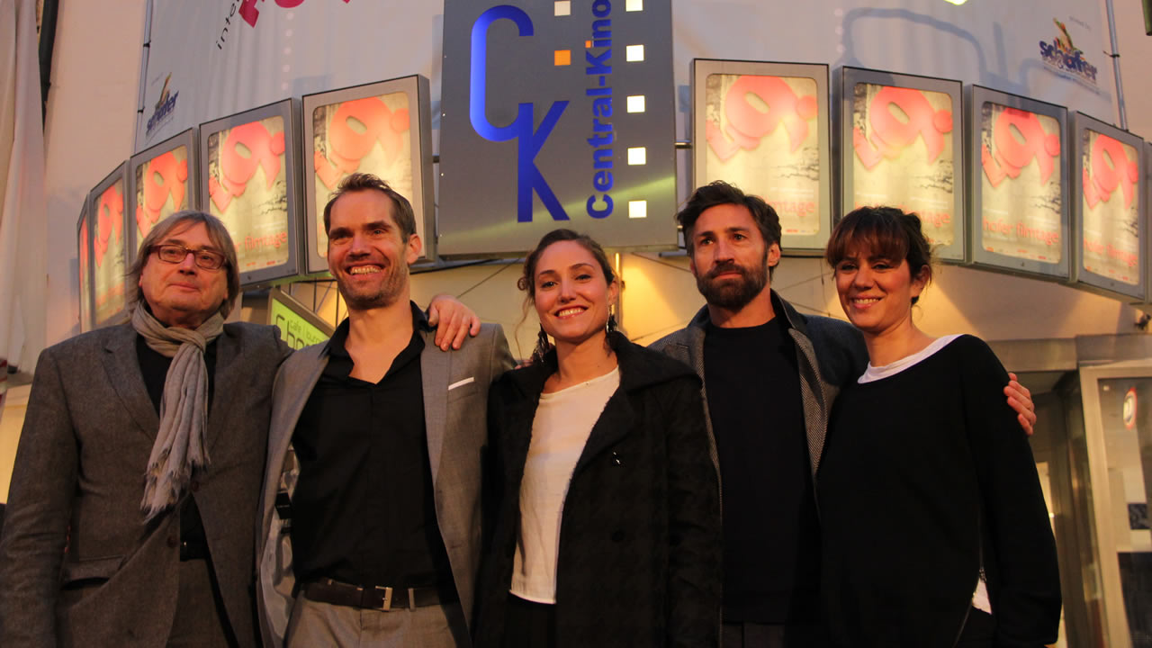 2015 – Director Christian Zübert (second from left) opens the 49th International Hof Film Festival with ONE BREATH.