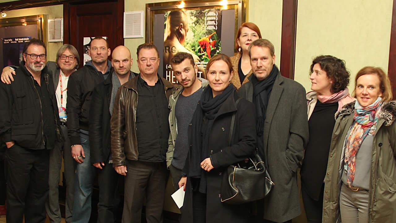 2015 - Das Team von HERBERT mit Regisseur Thomas Stuber (4.v.l.) und Hauptdarsteller Peter Kurth (5.v.l.).