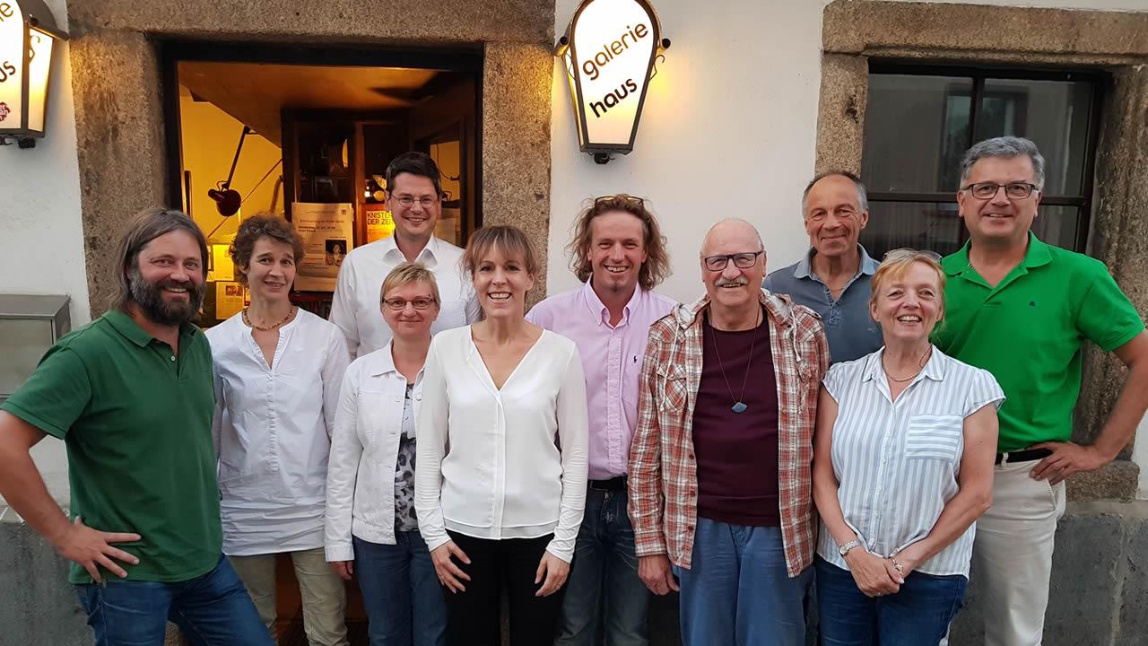 Bei der JHV im Galeriehaus, von links: Andreas Walter, Barbara Riegel, Oliver Beyer, Regina Jahn, Eva Döhla, Marcus Traub, Uwe Kaupenjohann, Bernd Müller, Christine Walther und Gerhard Lindner.