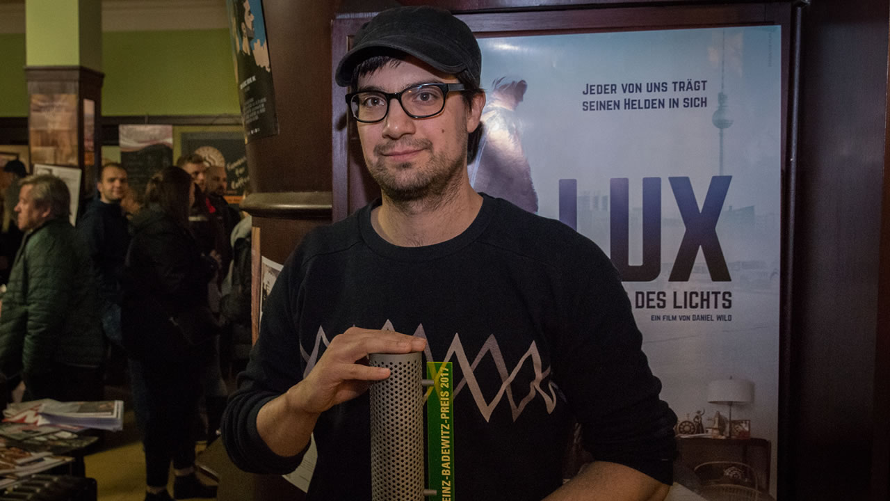 Heinz-Badewitz-Preis 2017: Preisträger ist Daniel Wild, für seinen Film LUX, KRIEGER DES LICHTS.