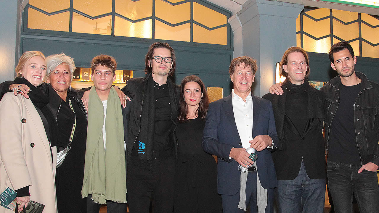 The team of Gregory Kirchhoff's BAUMBACHER SYNDROME at the festival opening