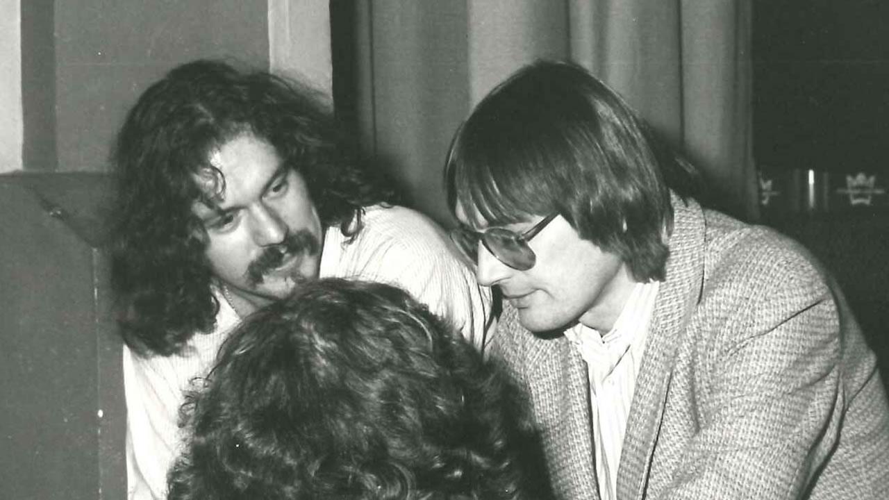 1982: Festivalchef Heinz Badewitz und Organisationsleiter Rainer Huebsch