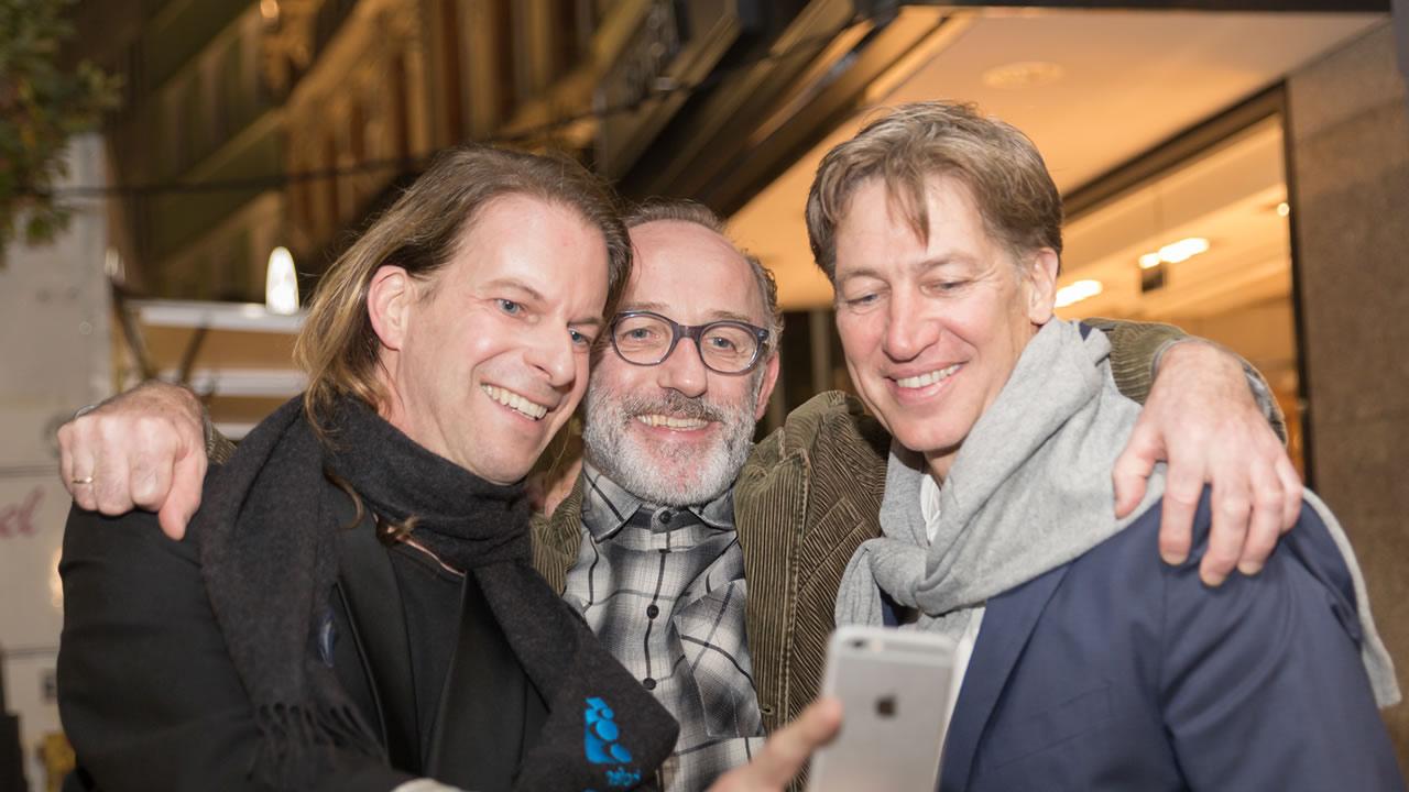 HoF 2019: Karl Markovics und Tobias Moretti mit Festivalleiter Thorsten Schaumann