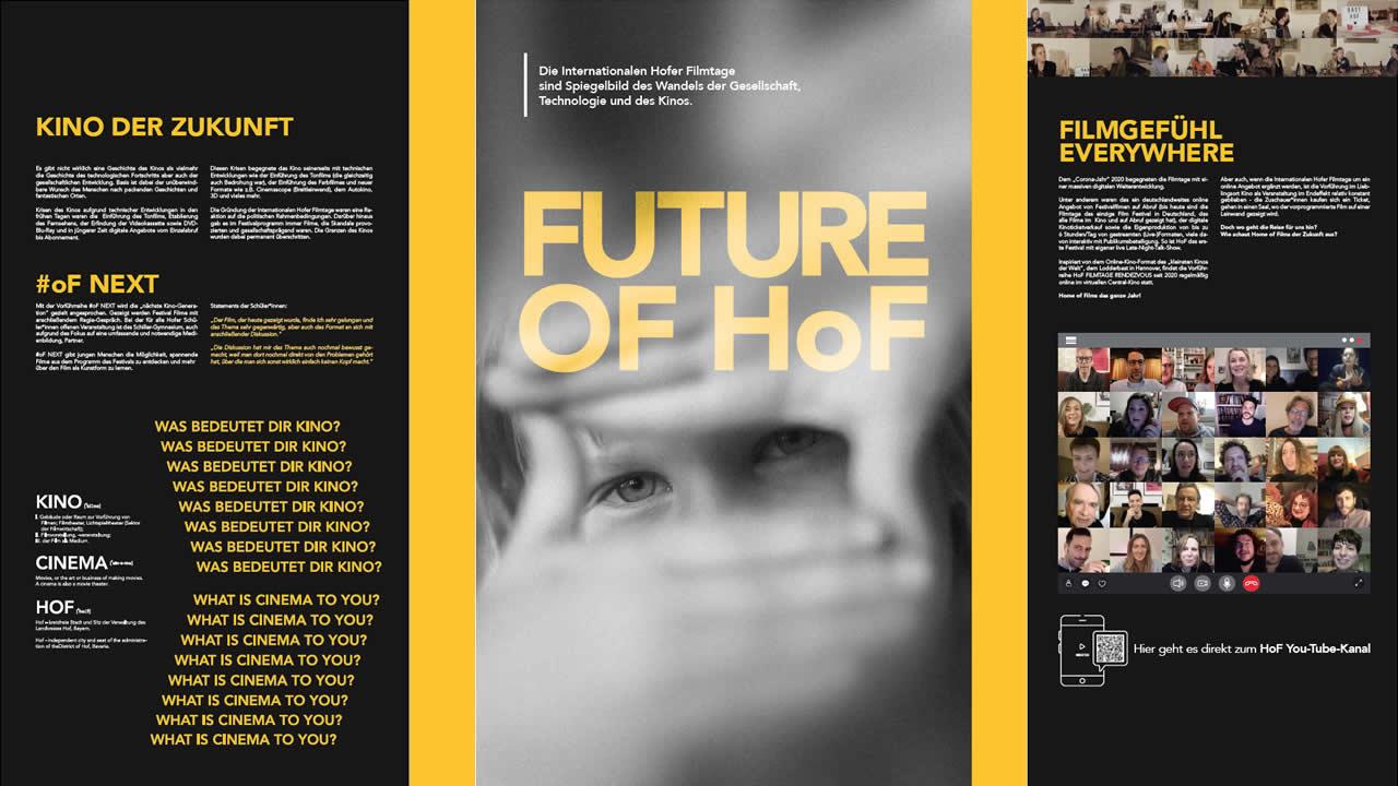 55 Jahre Charme statt Glamour: Ausstellungswand Zukunft